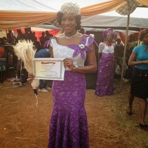 PHOTOS: Beautiful Chika Ike Gets Chieftancy Title In Enugu