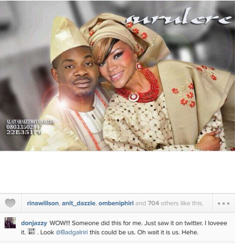 Don Jazzy 'Weds' His Sweetheart, Rihanna ……. Do you think it is true???